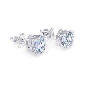 1.80 Carat Diamond G Si1 Stud Pair Earring